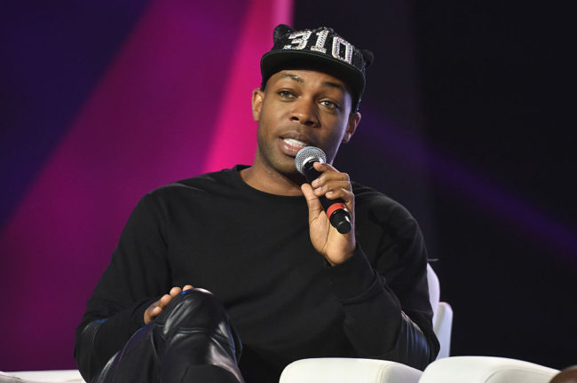 Singer Todrick Hall speaking at Essence Festival, 2016