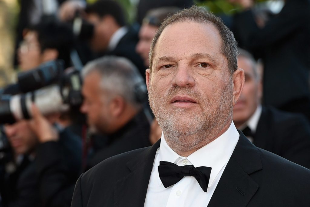 "US producer Harvey Weinstein poses as he arrives for the screening of the film ""The Little Prince"" at the 68th Cannes Film Festival in Cannes, southeastern France, on May 22, 2015. AFP PHOTO / LOIC VENANCE (Photo credit should read LOIC VENANCE/AFP/Getty Images)"