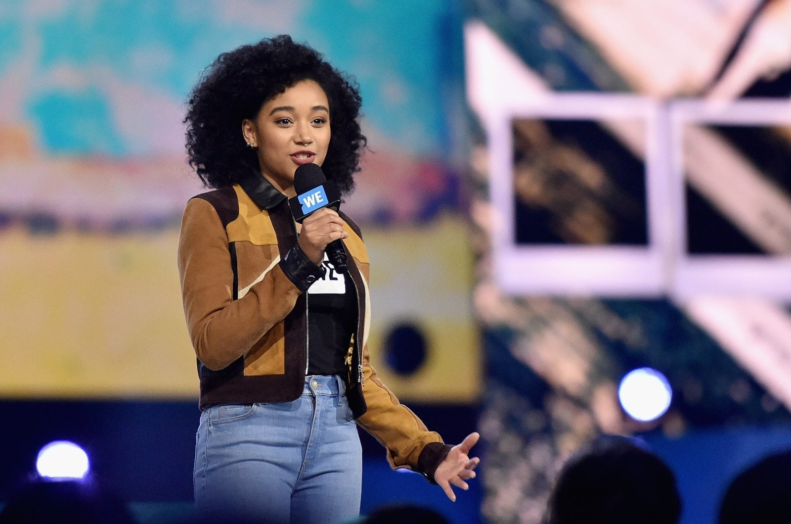 INGLEWOOD, CA - APRIL 07: Actress Amandla Stenberg speaks onstage at WE Day California 2016 at The Forum on April 7, 2016 in Inglewood, California. (Photo by Mike Windle/Getty Images for WE Day )