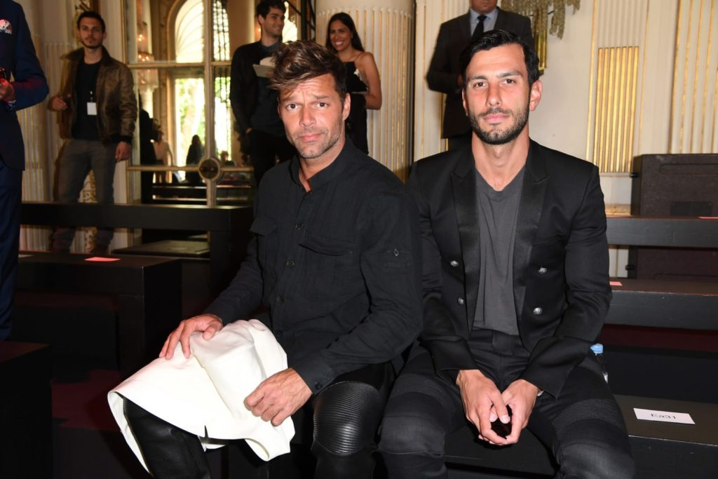 PARIS, FRANCE - JUNE 25: Ricky Martin and Jwan Yosef attend the Balmain Menswear Spring/Summer 2017 show as part of Paris Fashion Week on June 25, 2016 in Paris, France. (Photo by Pascal Le Segretain/Getty Images)