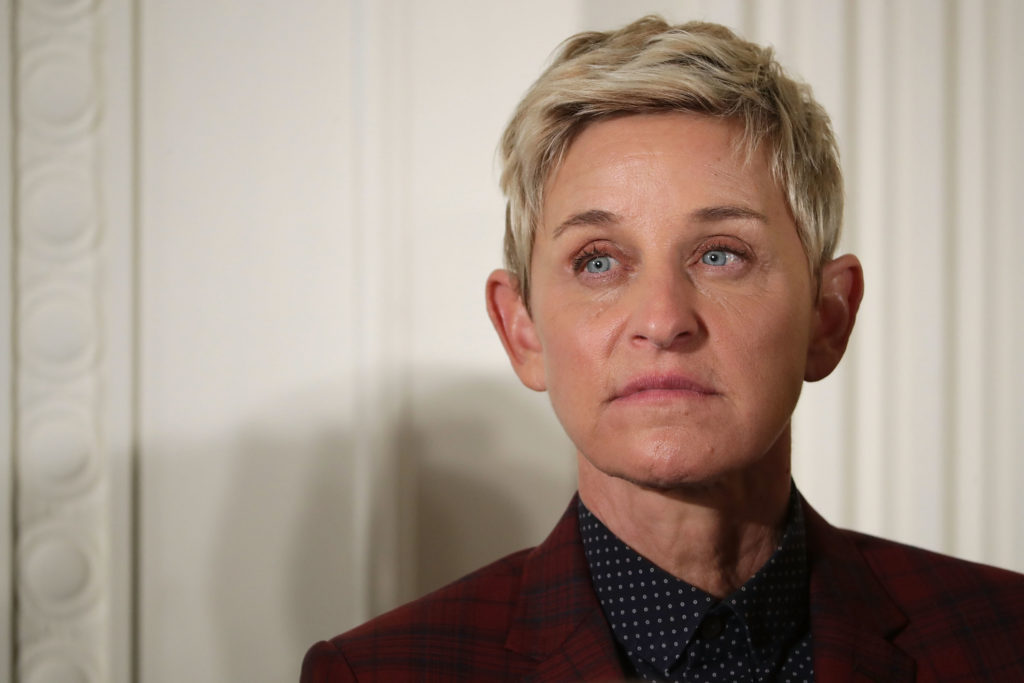 Comedian and talk show host Ellen DeGeneres is awarded the Presidential Medal of Freedom during a ceremony in the East Room of the White House November 22, 2016 in Washington, DC.