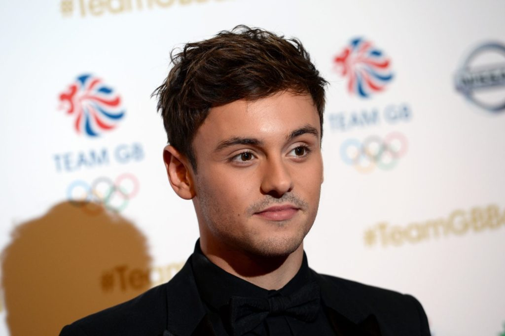 LONDON, ENGLAND - NOVEMBER 30: Host and diver Tom Daley attends the Team GB Ball at Battersea Evolution on November 30, 2016 in London, England. (Photo by Jeff Spicer/Getty Images)