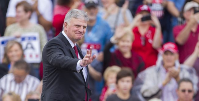Franklin Graham is known for his extreme views on LGBT+ issues