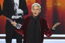LOS ANGELES, CA - JANUARY 18: Actress/TV host Ellen DeGeneres accepts Favorite Animated Movie Voice for 'Finding Dory' onstage during the People's Choice Awards 2017 at Microsoft Theater on January 18, 2017 in Los Angeles, California. (Photo by Kevin Winter/Getty Images)