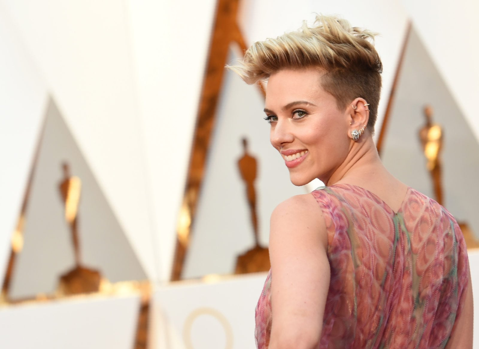 A picture of Scarlett Johannson, who Andy Serkis believe should have been casted to play a trans character.