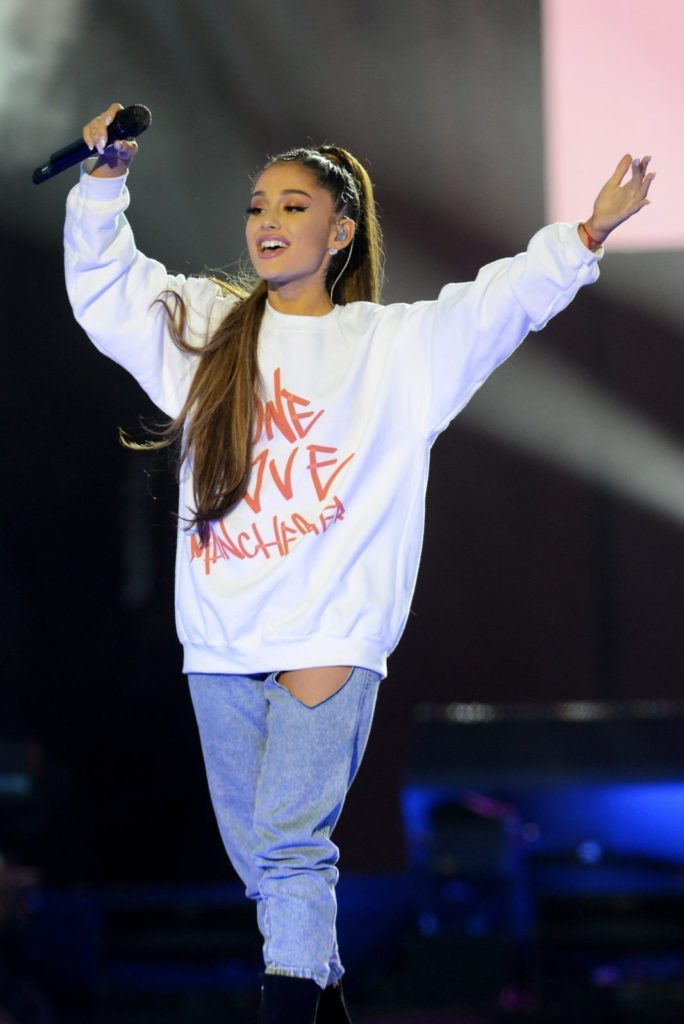 Ariana Grande performs in Manchester