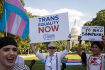 WASHINGTON, DC - JUNE 09: Members of the transgender community and their supporters rally for transgender equality on Capitol Hill, June 9, 2017 in Washington, DC. The Capital Pride Parade and the Equality March for Unity and Pride are both scheduled to take place in Washington this weekend. (Photo by Drew Angerer/Getty Images)