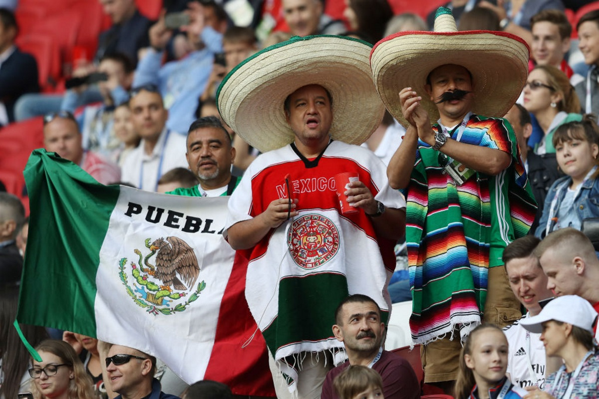 Mexico fans at Confederations Cup