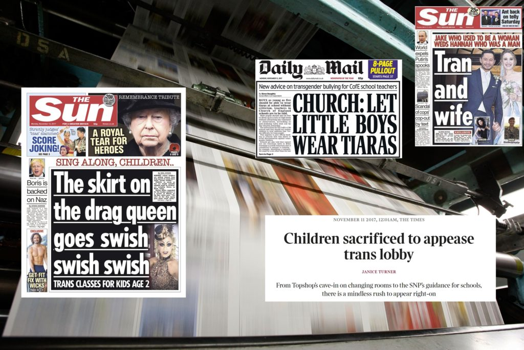 British newspapers have come under fire over their coverage of transgender issues (Getty)