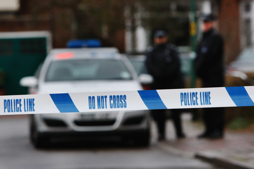 Police tape, representing police treating a homophobic attack in Greenwich as a hate crime