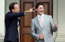 Leo Varadkar and Justin Trudeau getty