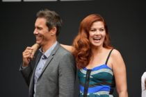 "LOS ANGELES, CA - AUGUST 02: Actors Eric McCormack and Debra Messing attend the ""Will & Grace"" ribbon cutting Ceremony on August 2, 2017 in Los Angeles, California. (Photo by Matt Winkelmeyer/Getty Images)"