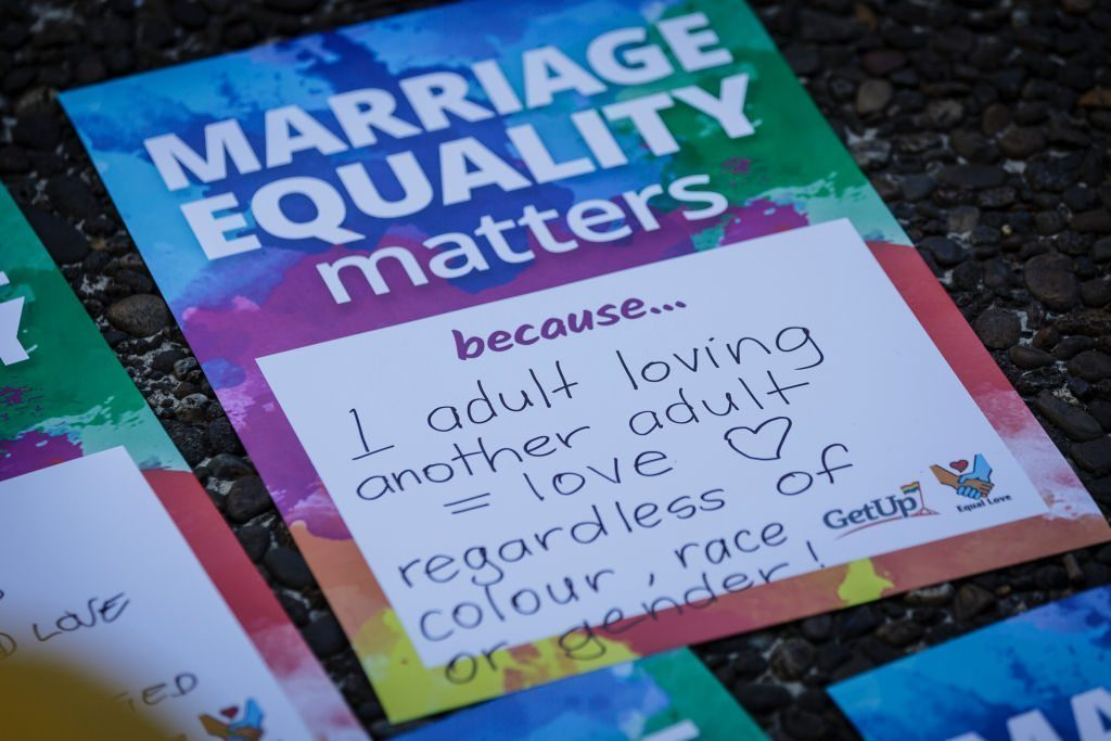 Protesters push for Parliamentary vote on marriage equality