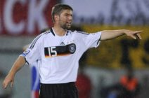 Germany's midfielder Thomas Hitzlsperger shouts during the World Cup 2010 qualifying match Liechtenstein vs Germany in Vaduz, Liechtenstein on September 6, 2008.AFP PHOTO DDP / OLIVER LANG (Photo credit should read OLIVER LANG/AFP/Getty Images)