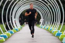 CLAPHAM, ENGLAND - AUGUST 08: Ryan Libbey at Run the Tube by ASICS, an 85-metre multi-sensory LED tunnel in Clapham Common for its #IMoveLondon campaign on August 8, 2017 in Clapham, England. Run the Tube aims to inspire Londoners to move more and use their city as their gym following research that revealed Brits spend most of their waking hours sitting down. Catch Run The Tube in Clapham Common before it closes on 10 August. (Photo by Harry Hubbard/Getty Images for Asics)
