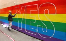 Street Artists Paint 'YES' in Australia for marriage equality