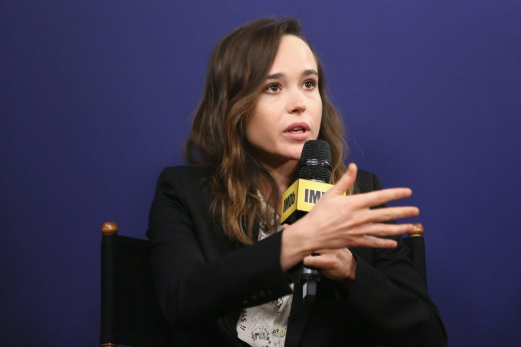 TORONTO, ON - SEPTEMBER 09: Actress Ellen Page of 'The Cured' attends The IMDb Studio Hosted By The Visa Infinite Lounge at The 2017 Toronto International Film Festival at Bisha Hotel & Residences on September 8, 2017 in Toronto, Canada. (Photo by Rich Polk/Getty Images for IMDb)