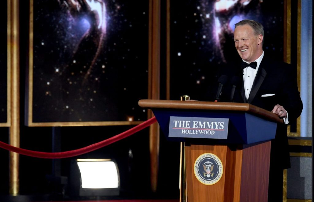 Sean Spicer at the Emmy's
