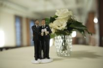 BERLIN, GERMANY - OCTOBER 01: Same sex wedding figures stand on a table after the first wedding after new law 'Ehe fuer alle' (wedding for everyone) in Germany at Schoeneberg district townhall on October 1, 2017 in Berlin, Germany.(Photo by Steffi Loos/Getty Images)