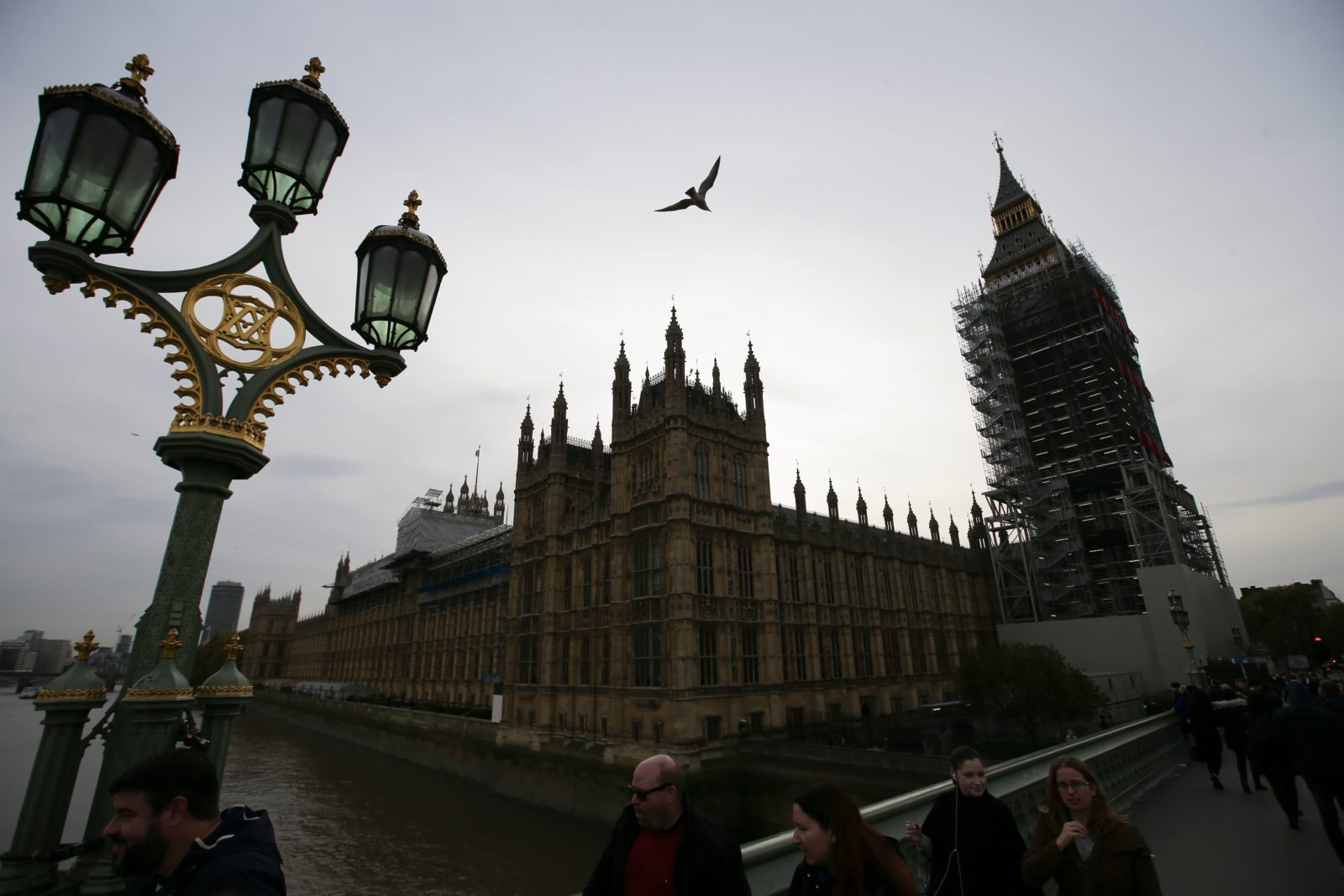 "The Houses of Parliament are seen in London on October 31, 2017. Prime Minister Theresa May came under pressure on Tuesday to take action against alleged sex pests in her own cabinet amid swirling rumours in Westminster about inappropriate behaviour by several lawmakers. Defence Secretary Michael Fallon apologised for putting his hand on a female journalist's knee in 2002 and the cabinet is investigating another minister, Mark Garnier, who asked his now former aide to buy him sex toys and called her ""sugar tits"". British media have reported on the existence of a list of sexual allegations about around 40 Conservative MPs including six ministers that was apparently compiled by disgruntled former employees. / AFP PHOTO / Daniel LEAL-OLIVAS / The erroneous mention[s] appearing in the metadata of this photo by Daniel LEAL-OLIVAS has been modified in AFP systems in the following manner: [The Houses of Parliament are seen in London on October 31, 2017] instead of [Chancellor of the Exchequor Philip Hammond leaves his office in Downing Street...]. Please immediately remove the erroneous mention[s] from all your online services and delete it (them) from your servers. If you have been authorized by AFP to distribute it (them) to third parties, please ensure that the same actions are carried out by them. Failure to promptly comply with these instructions will entail liability on your part for any continued or post notification usage. Therefore we thank you very much for all your attention and prompt action. We are sorry for the inconvenience this notification may cause and remain at your disposal for any further information you may require. (Photo credit should read DANIEL LEAL-OLIVAS/AFP/Getty Images)"