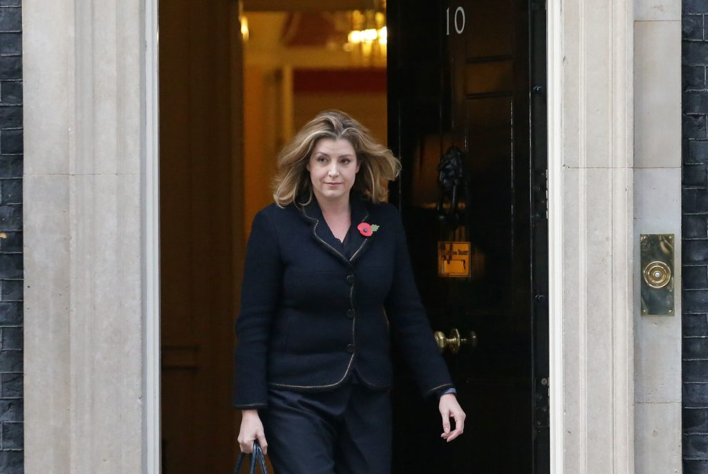 Britain's International Development Secretary and Minister for Women and Equalities Penny Mordaunt, who announced new funds to tackling LGBT bullying in schools.