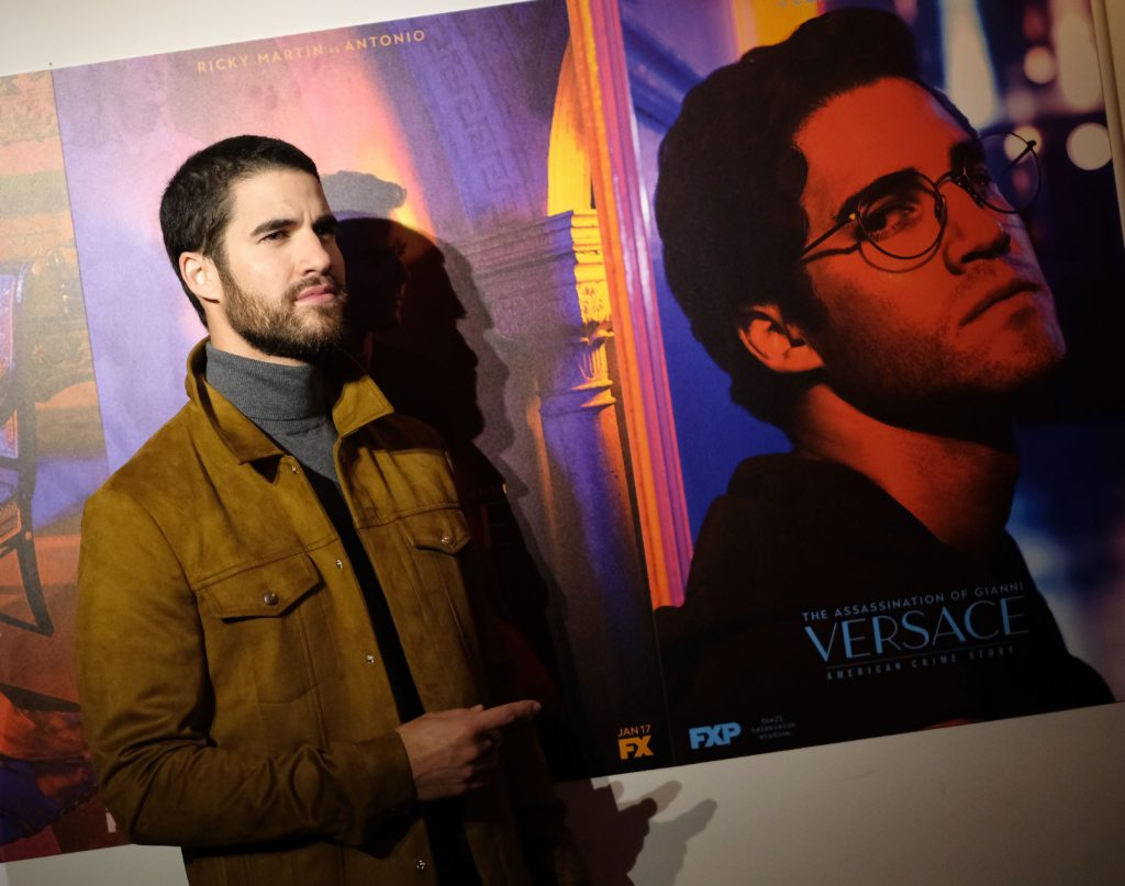 """Darren Criss attends the premiere of """"The Assassination of Gianni Versace: American Crime Story."""""""