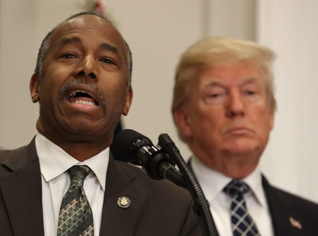 WASHINGTON, DC - JANUARY 12: HUD Secretary Dr. Ben Carson speaks before U.S. President Donald Trump signed a proclamation to honor Martin Luther King, Jr. day, in the Roosevelt Room at the White House, on January 12, 2018 in Washington, DC. Monday January 16 is a federal holiday to honor Dr. King and his legacy. (Photo by Mark Wilson/Getty Images)