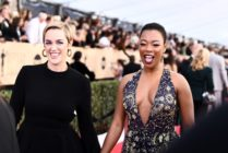 LOS ANGELES, CA - JANUARY 21: Writer Lauren Morelli (L) and actor Samira Wiley attend the 24th Annual Screen Actors Guild Awards at The Shrine Auditorium on January 21, 2018 in Los Angeles, California. 27522_011 (Photo by Emma McIntyre/Getty Images for Turner)