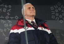 PYEONGCHANG-GUN, SOUTH KOREA - FEBRUARY 09: U.S. Vice President Mike Pence looks on during the Opening Ceremony of the PyeongChang 2018 Winter Olympic Games at PyeongChang Olympic Stadium on February 9, 2018 in Pyeongchang-gun, South Korea. (Photo by Matthias Hangst/Getty Images)