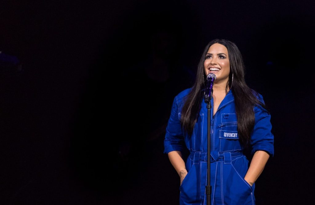 DALLAS, TX - FEBRUARY 09: Demi Lovato performs live exclusively for American Airlines AAdvantage¨ Mastercard¨ cardmembers at House of Blues Dallas on Friday, February 9th in Dallas, TX. (Photo by Christopher Polk/Getty Images for Mastercard)