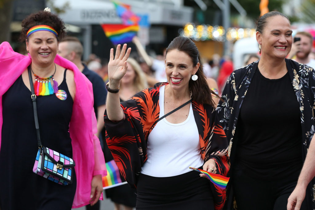 New Zealand Prime Minister Jacinda Arden at Pride (Getty)