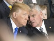 Franklin Graham talks with President Donald Trump
