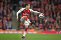 LONDON, ENGLAND - APRIL 01: Hector Bellerin of Arsenal in action during the Premier League match between Arsenal and Stoke City at Emirates Stadium on April 1, 2018 in London, England. (Photo by Mike Hewitt/Getty Images)