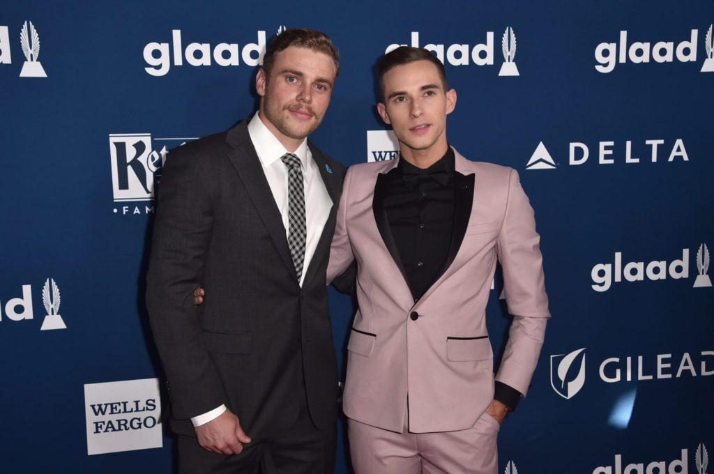 Out and proud athletes Gus Kentworthy and Adam rippon made LGBT+ history at the Olympics this year.