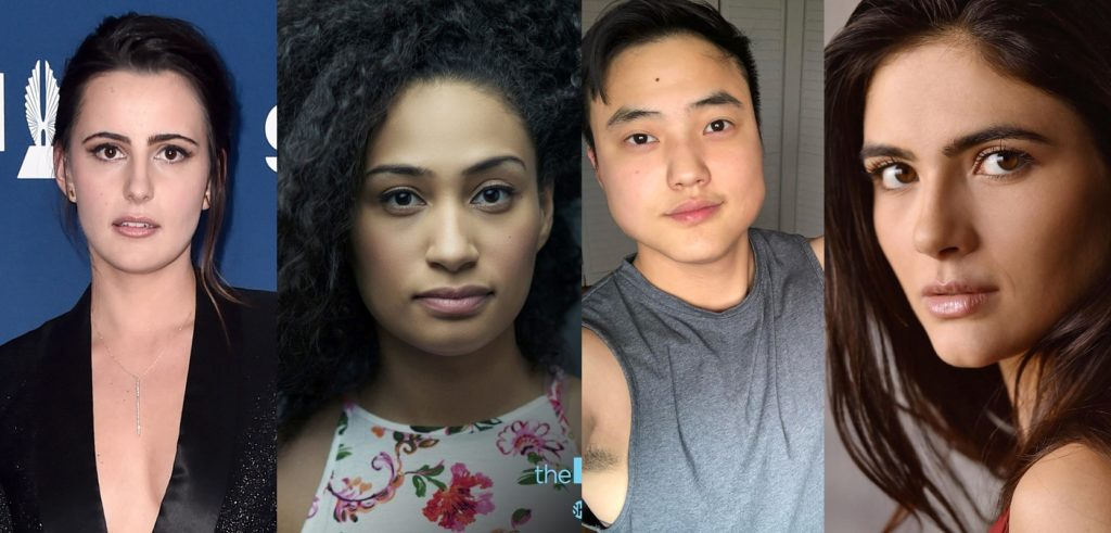 The L Word: Generaiton Q cast members Jacqueline Toboni, Rosanny Zayas, Leo Sheng and Arienne Mandi