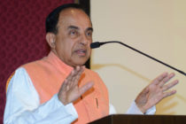 Subramanian Swamy, Indian Bharatiya Janata Party (BJP) senior leader and Rajya Sabha (MP) delivers a speech during a journalists conference ahead of the Narad Jayanti in Amritsar on April 29, 2018. - Narad Jayanti is the birth anniversary of Narada Muni which falls on May 1. In some parts of India Narada Jayanti is also known as Patrakar Diwas (Journalist Day) because Devrishi Narada is considered the precursor of journalists and musicians. (Photo by NARINDER NANU / AFP) (Photo credit should read NARINDER NANU/AFP/Getty Images)