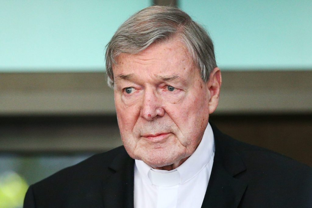 MELBOURNE, AUSTRALIA - MAY 01: Cardinal George Pell leaves at Melbourne Magistrates' Court on May 1, 2018 in Melbourne, Australia. Cardinal Pell was charged on summons by Victoria Police on 29 June 2017 over multiple allegations of sexual assault. Cardinal Pell is Australia's highest ranking Catholic and the third most senior Catholic at the Vatican, where he was responsible for the church's finances. Cardinal Pell has leave from his Vatican position while he defends the charges. (Photo by Michael Dodge/Getty Images)