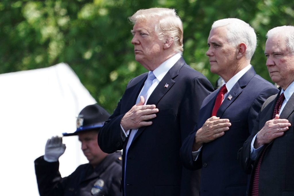 President Donald Trump, Vice President Mike Pence, and Attorney General Jeff Sessions (Alex Wong/Getty)
