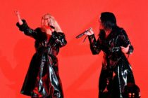 LAS VEGAS, NV - MAY 20: Recording artists Christina Aguilera (L) and Demi Lovato perform onstage during the 2018 Billboard Music Awards at MGM Grand Garden Arena on May 20, 2018 in Las Vegas, Nevada. (Photo by Kevin Winter/Getty Images)