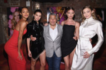 Ed Razek with Victoria's Secret models