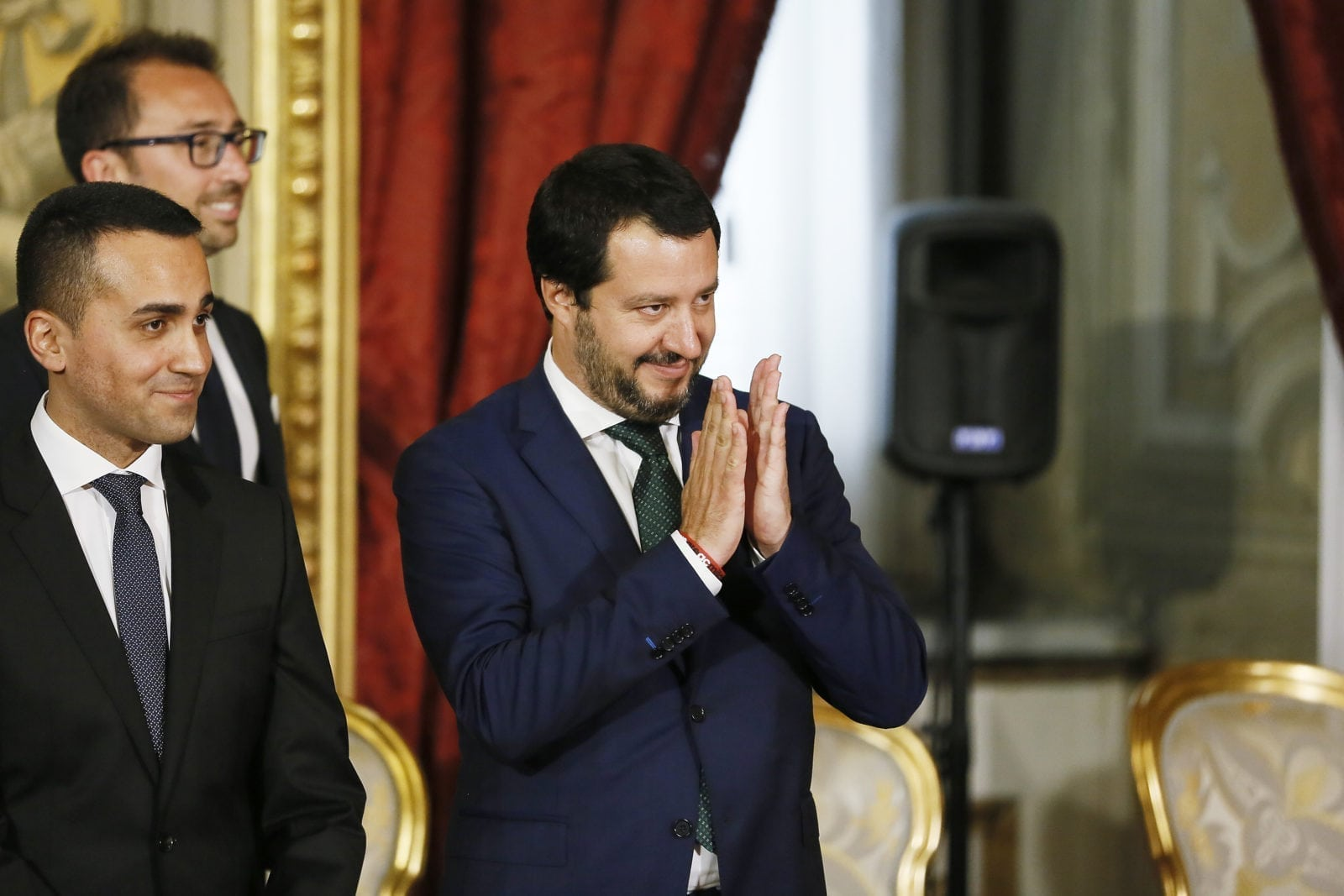 ROME, ITALY - JUNE 01: Interior Minister and Deputy PM Matteo Salvini attends the swearing in ceremony of the new government led by Prime Minister Giuseppe Conte at Palazzo del Quirinale on June 1, 2018 in Rome, Italy. Law professor Giuseppe Conte has been chosen as Italy's new prime minister by the leader of the 5-Star Movement, Luigi Di Maio, and League leader Matteo Salvini. (Photo by Ernesto S. Ruscio/Getty Images)
