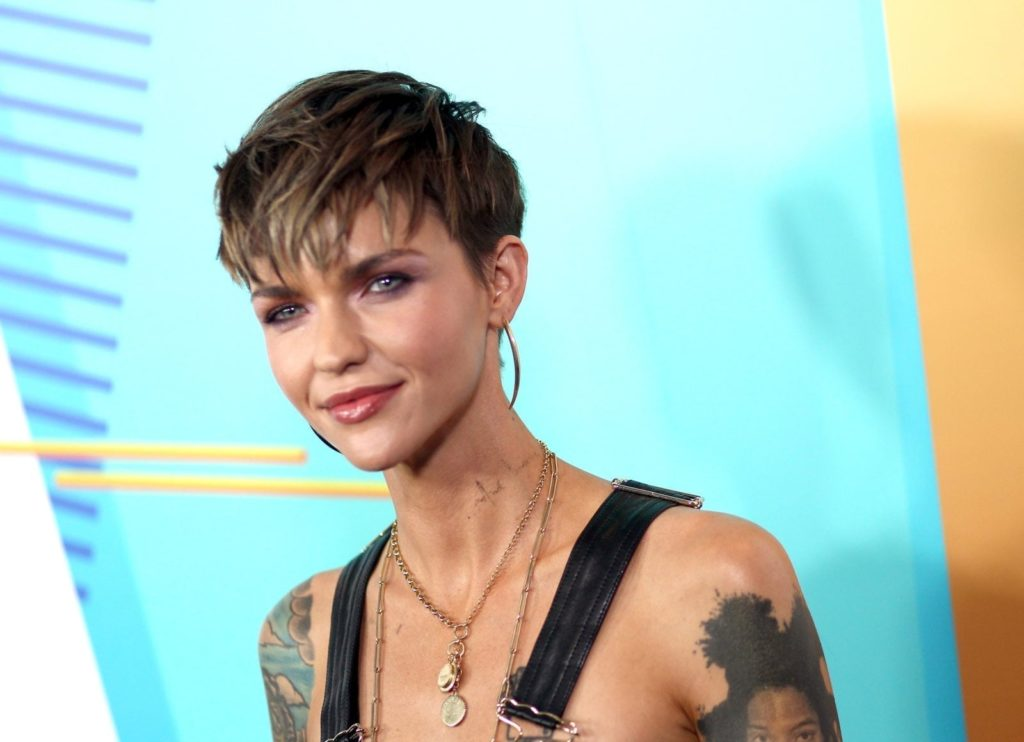 Ruby Rose arrives at the 2018 iHeartRadio Wango Tango by AT&T at Banc of California Stadium on June 2, 2018 in Los Angeles, California. (Tommaso Boddi/Getty)