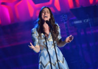 Hal David Starlight Award Honoree US singer/songwriter Sara Bareilles performs onstage during the Songwriters Hall of Fame 49th Annual Induction and Awards Dinner at New York Marriott Marquis Hotel on June 14, 2018 in New York City. (Photo by ANGELA WEISS / AFP) (Photo credit should read ANGELA WEISS/AFP/Getty Images)