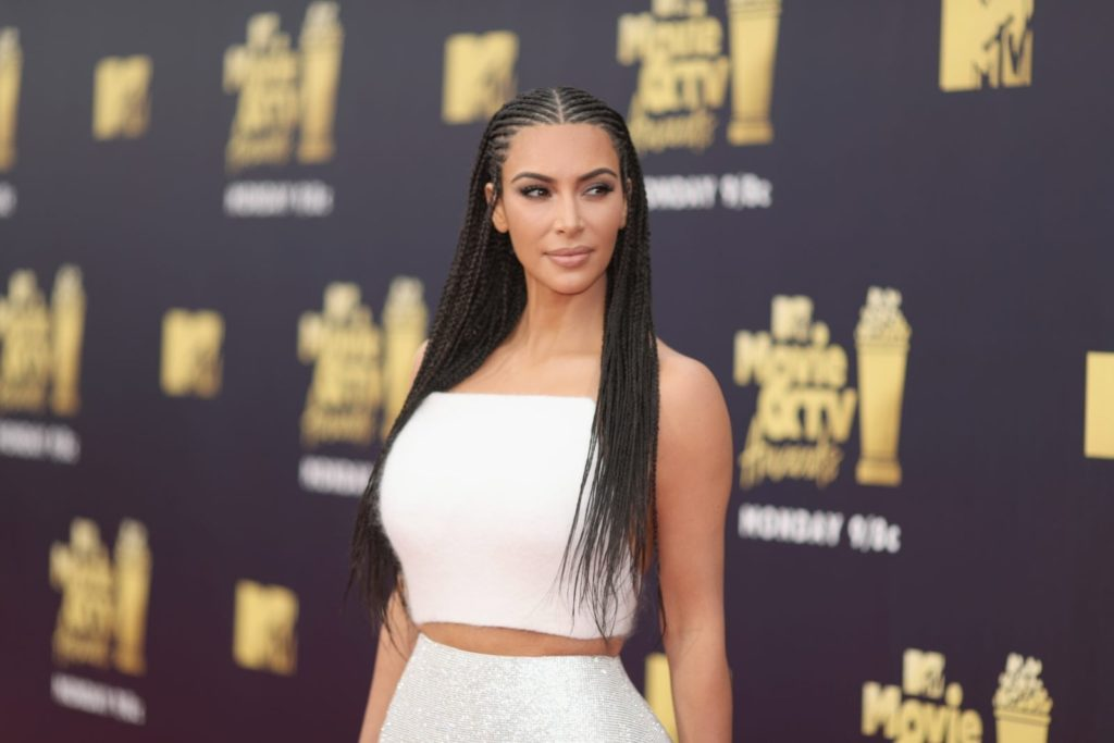 TV personality Kim Kardashian attends the 2018 MTV Movie And TV Awards at Barker Hangar on June 16, 2018 (Christopher Polk/Getty for MTV)