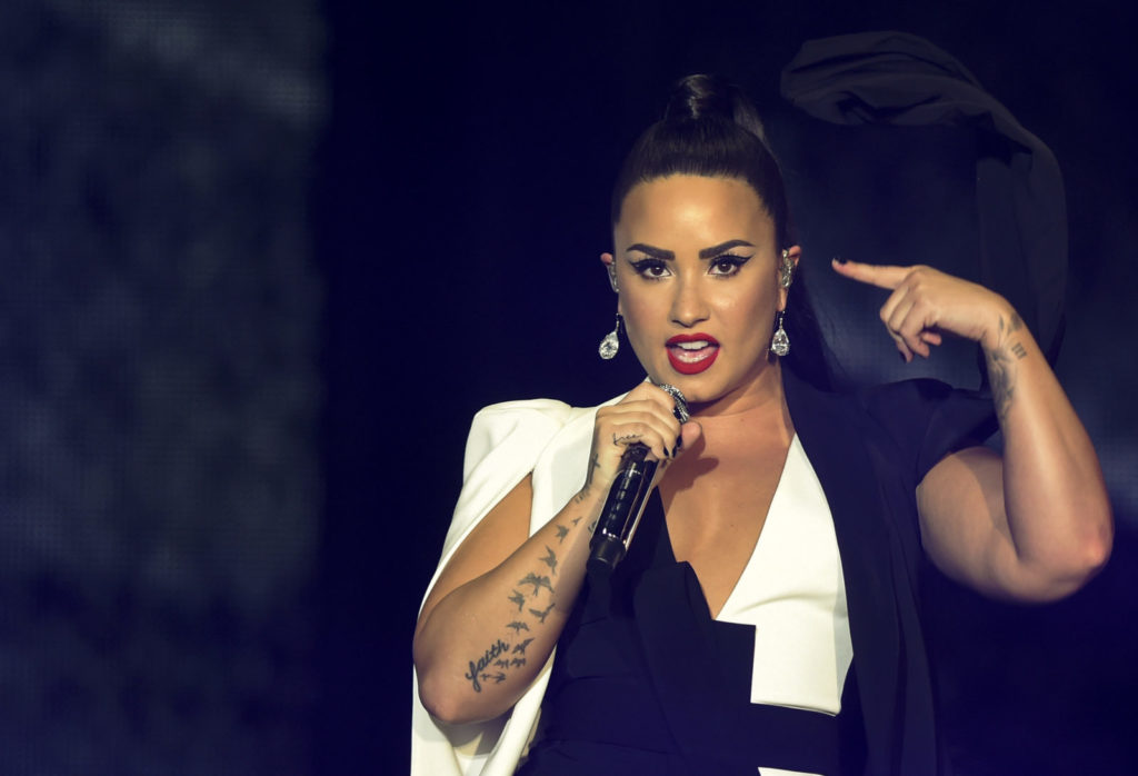 US singer Demi Lovato performs on stage during the Rock in Rio Lisboa music festival at Bela Vista Park in Lisbon, on June 24, 2018. (Photo by MIGUEL RIOPA / AFP) (Photo credit should read MIGUEL RIOPA/AFP/Getty Images)
