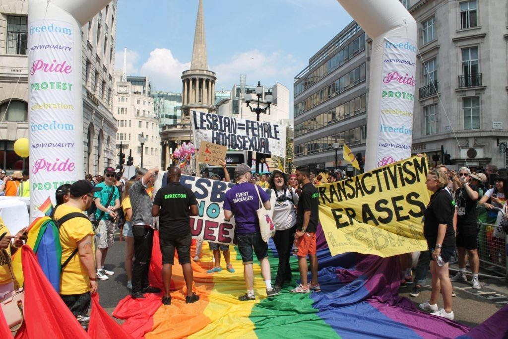 The anti-trans group disrupting Pride in London's 2018 parade