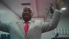 "Pastor Gbenga Samuel attempting to ""cure"" an undercover ITV reporter of his homosexuality"