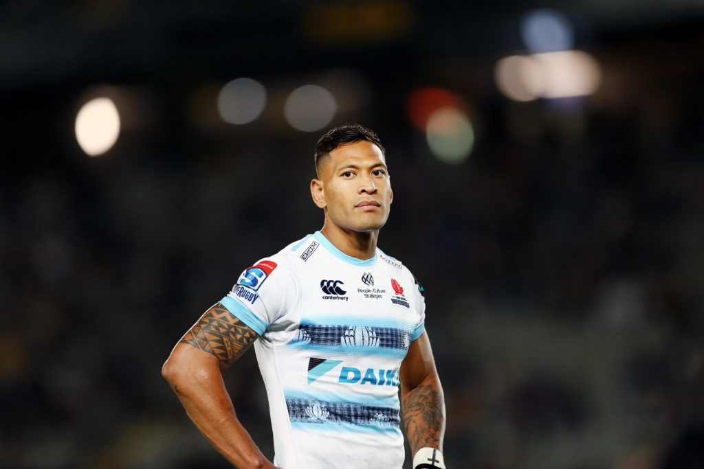 "Israel Folau posted messages claiming ""hell awaits"" gay people."