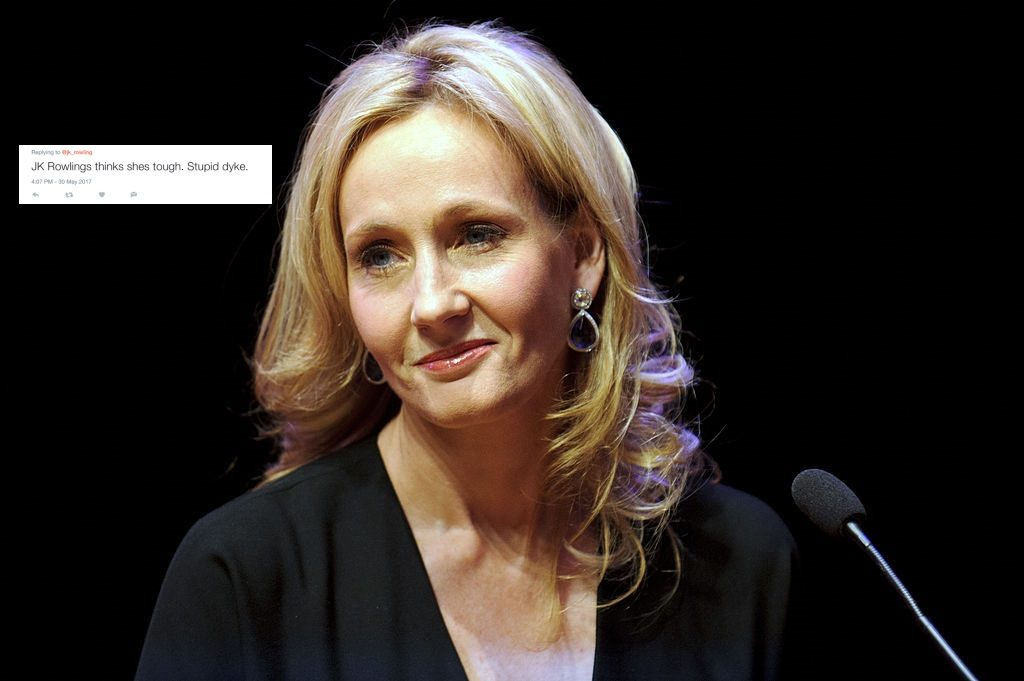JK Rowling with homophobic tweet