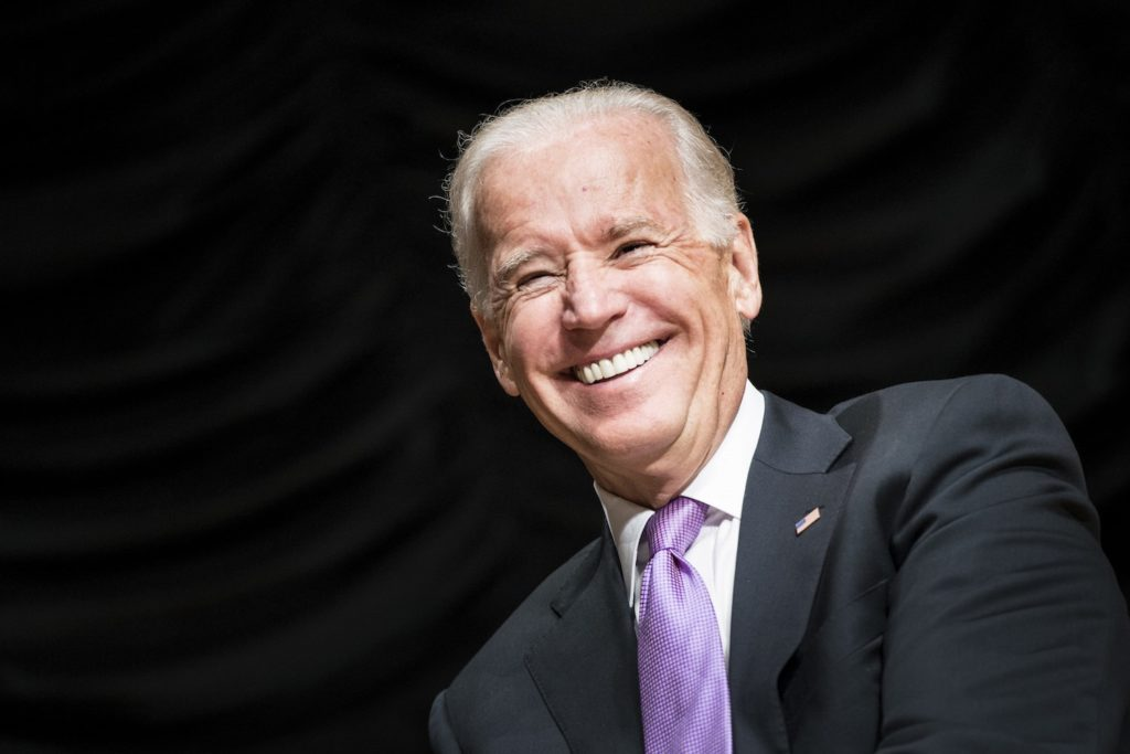 Former US Vice President Joe Biden addresses a Human Rights Campaign gala